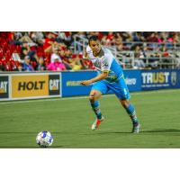 Las Vegas Lights FC forward Sammy Ochoa attacks during a match at San Antonio FC