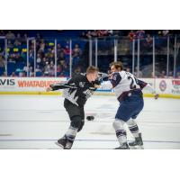Tulsa Oilers and Idaho Steelheads fight