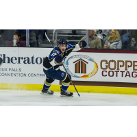 Sioux Falls Stampede forward Ryan Sullivan celebrates