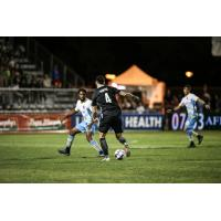 Mitchell Taintor of Sacramento Republic FC controls possession vs. Las Vegas Lights FC