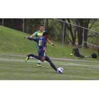 Michee Ngalina of Bethlehem Steel FC vs. the Tampa Bay Rowdies