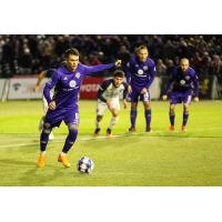 Louisville City FC forward Cameron Lancaster