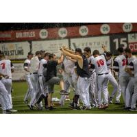 Washington Wild Things celebrate a playoff series win