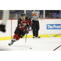 Vancouver Giants forward Justin Sourdif handles the puck