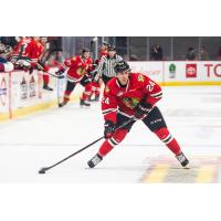 Portland Winterhawks forward Seth Jarvis looks to pass