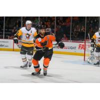 Lehigh Valley Phantoms forward Cole Bardreau against the Wilkes-Barre/Scranton Penguins