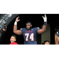 Offensive lineman Jabari Buckley with the Sioux Falls Storm
