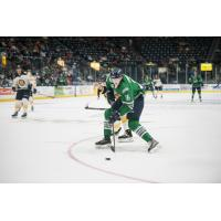 Florida Everblades forward Steven Lorentz handles the puck against the Norfolk Admirals