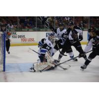 Utah Grizzlies converge on Wichita Thunder's goaltender