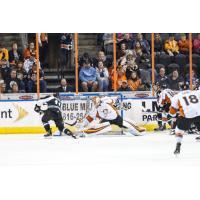 Utah Grizzlies shoot against the Kansas City Mavericks