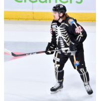 Defenseman Zach Todd with the Orlando Solar Bears...in Halloween uniform