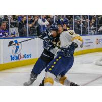 Norfolk Admirals battle with the Jacksonville Icemen