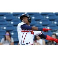 Ronald Acuna, Jr. with the Mississippi Braves