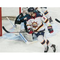 Defenseman Brandon Rumble with the Peoria Rivermen