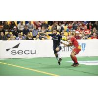 Mississauga MetroStars' Mo Babouli in action tonight against the Baltimore Blast