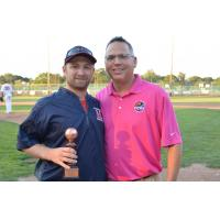Futures League Commissioner Chris Hall (right)