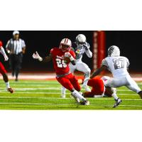 Running back Nate Chavious with Sacred Heart in Connecticut