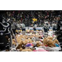 Florida Everblades Teddy Bear Toss aftermath