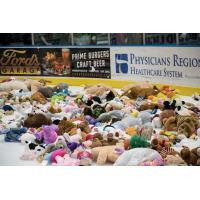 Florida Everblades' Teddy Bear Toss Night aftermath