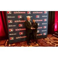 Tiffany Young and MiLB President & CEO Pat O'Conner