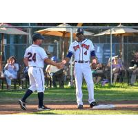 Sonoma Stompers manager Zack Pace, left, and Marcus Bradley