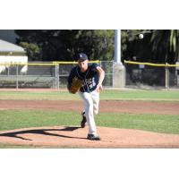 San Rafael Pacifics pitcher Jared Koenig delivers