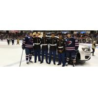 South Carolina Stingrays and United States Marine Corps Reserve members