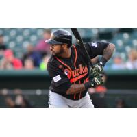 Jordany Valdespin with the Long Island Ducks