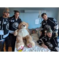 Manchester Monarchs Deliver Teddy Bears to Children at Elliot Hospital