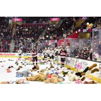 Teddu bears rain down at the Cleveland Monsters game