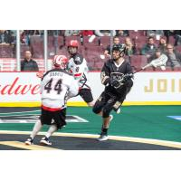 Vancouver Warriors play the Calgary Roughnecks at Rogers Arena during their game on December 21, 2018