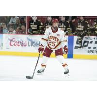 Forward Brendan Budy with the Denver Pioneers
