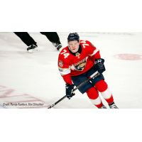 Owen Tippett with the Florida Panthers