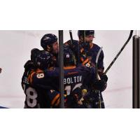 Greenville Swamp Rabbits' celebratory huddle