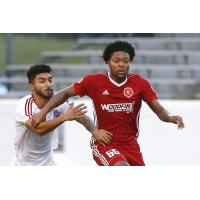 Defender Mekeil Williams with the Richmond Kickers