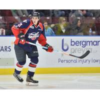 Mathew MacDougall with the Windsor Spitfires