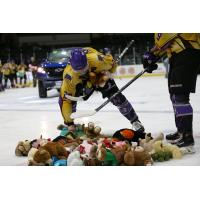 Tri-City Storm collects teddy bears following a goal