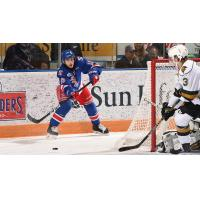 Rangers centre Riley Damiani against the London Knights