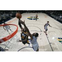 Salt Lake City Stars center Willie Reed goes in for a dunk
