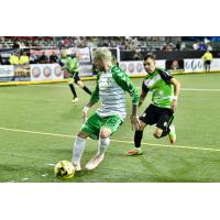 Dallas Sidekicks forward Jamie Lovegrove against the El Paso Coyotes
