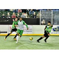 Dallas Sidekicks midfielder Ricardinho Cavalcante against the El Paso Coyotes