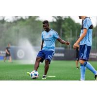 New York City FC midfielder Ebenezer Ofori