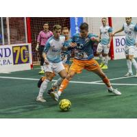 St. Louis Ambush eye the ball against the Florida Tropics