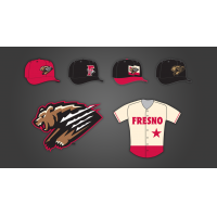 Fresno Grizzlies home jerseys and caps
