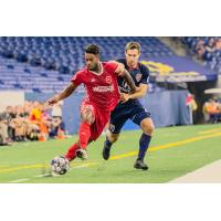 Defensive midfielder Brandon Eaton with the Richmond Kickers