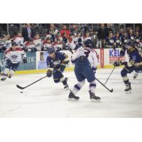 Sioux Falls Stampede center Brian Chambers skates through the Central Illinois Flying Aces