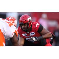 Calgary Stampeders offensive lineman Ucambre Williams