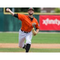 Pitcher Liam O'Sullivan with the Joliet Slammers