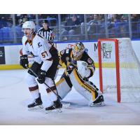 Cleveland Monsters left wing Paul Bittner vs. the Wilkes-Barre/Scranton Penguins