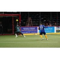 Ontario Fury goaltender Chris Toth makes a save